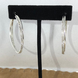 White Gold Filled Gold Filled Wire Hoop Earrings